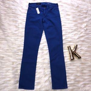 NWT J.CREW Matchstick jean cornflower blue size 24